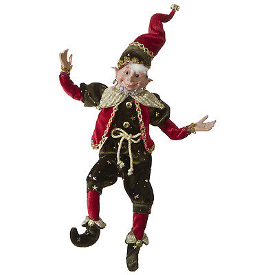 """RAZ Imports Christmas Posable Elf with Bendable Arms and Legs, Stars Design 16"""""""