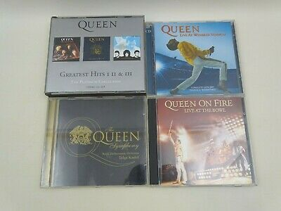Queen CD Bundle Greatest Hits 1&2, Live At Wembley Live At The Bowl Symphony