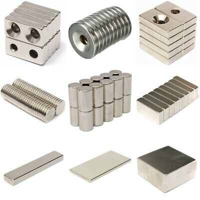 Neodymium Magnet Countersunk Rectangle Round Disc Block Cylinder Bar Strong N
