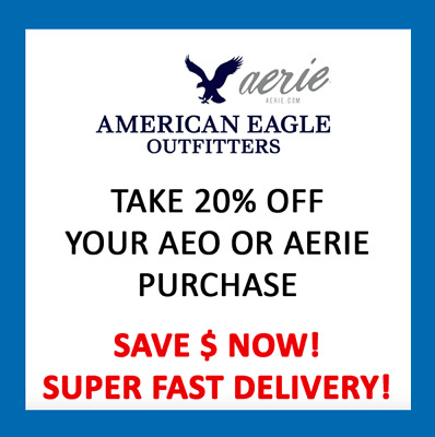 American Eagle Coupon  * In Store & Online * Fast Del *  EXP 10/31/19