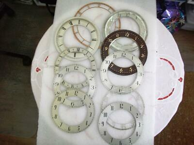 Selection Of Used Smiths Mantel Clock Chapter Rings. As Removed From Clock Cases
