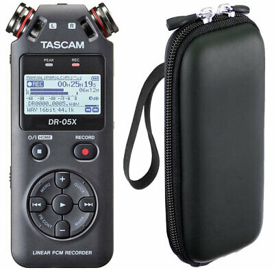Tascam DR-05X Recorder Dictaphone + Bag Soft-Case