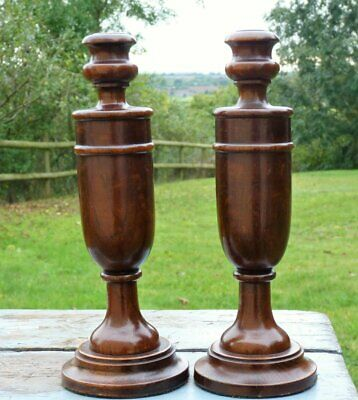 Vintage 1930s wooden candlesticks candle holders * Art Deco Chic