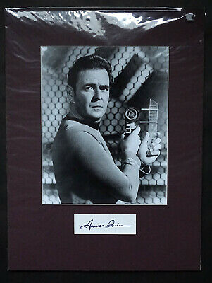 James Doohan Star Trek Hand Signed Autograph mounted with 10 x8 Photograph COA