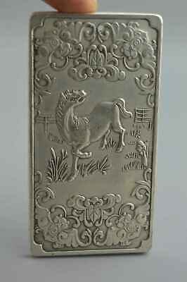 Collectable Handwork Miao Silver Carve Vivid Zodiac Horse Exorcism Noble Pendant