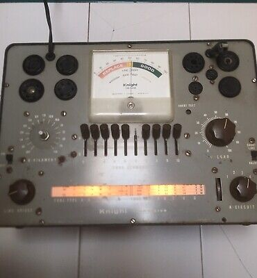 KNIGHT 600 SERIES Tube Tester W/ Manual And Box Of 47 Tubes