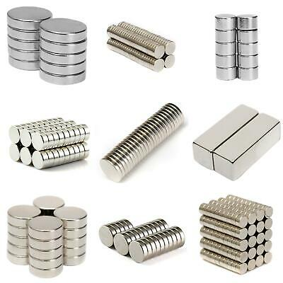 SN_ 1-200Pcs Super Strong Round Disc Magnets Rare-Earth Magnet N35/N50/52/N48