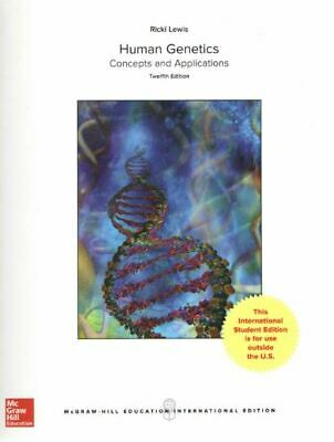 Human Genetics 12E by Ricki Lewis 3-4 business days to US