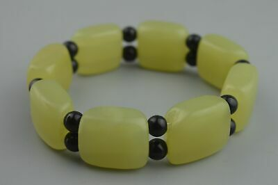 China Handwork Decor Collectable Old Jade Carve Beauty Bead Auspicious Bracelet