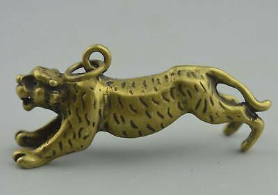 Collectable Handwork Decor Copper Carve Running Lion Auspicious Usable  pendant