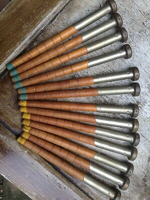 13 Antique Weaving Shuttle Bobbins