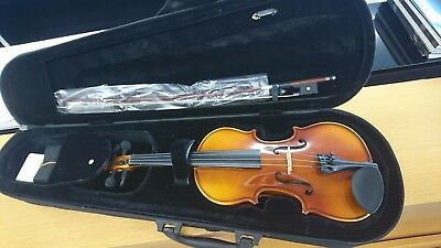 Classenti Full Size Violin + Case, Bow, Rosin, Strap & Extra Strings - Brand New