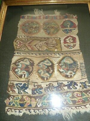 Extremely rare coptic sampler, complete on all sides