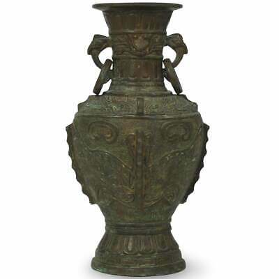 19th Century Chinese Bronze Archaic Style Handled Vase