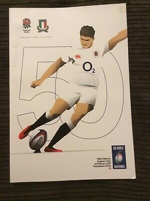 England V Italy 26 Feb 17 6 Nations International Rugby Union Programme Q1