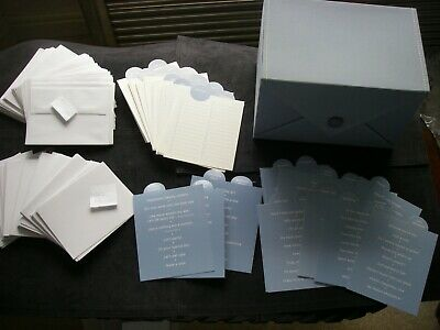 ULTIMATE Scrapbook & Cardmaking Kit CLOTH BOX 88 Card Sets TOPPERS STICKERS NEW