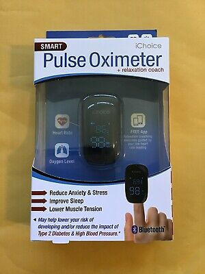 Smart Pulse Oximeter With Relaxation Coach Bluetooth