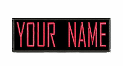 YOUR NAME IRON-ON CHILD Custom Jurassic Park Dino Embroidered Name Tag Patch