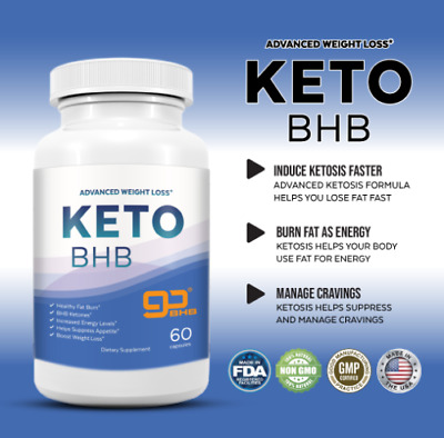Shark Tank Keto Diet Pills Burn Fat Fast - GO BHB Ketones - Advanced Weight Loss