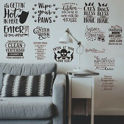 Wall art stickers quotes, removable Home decor, quality vinyl for home kitchen l