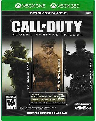 Call of Duty Modern Warfare Trilogy - Xbox One & Xbox 360 - NEW FREE US SHIPPING