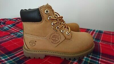 Timberland boots shoes 10 10.5 kids boys girls leather christmas beige chukka br