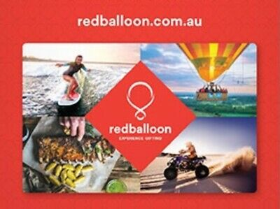 $50 Redballoon Voucher - Min spend $250 Email / Post Red Balloon Paper Gift Card