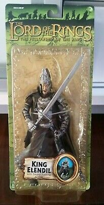 Lord Of The Rings KING ELENDIL Action Figure LOTR MIB