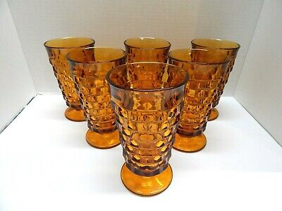 Indiana Colony Whitehall Amber Glasses Set of 6
