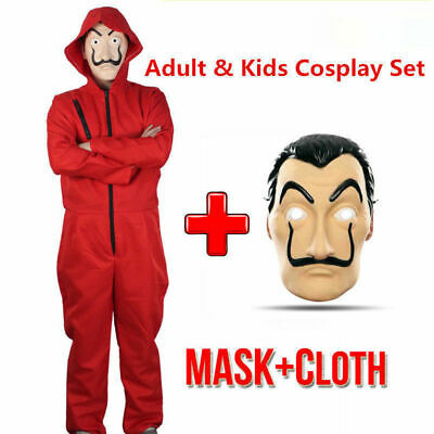 Salvador Dali Money Heist The House of Paper La Casa De Papel Halloween Costume