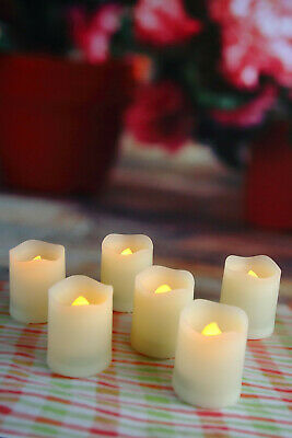 Flameless Flicker LED Battery Operated Votive Candles Timer 6 PCS Long Lasting