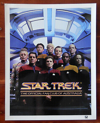 Star Trek Voyager Cast - Star Trek Fan Club of Australia Print (1990s)
