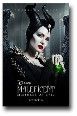 "Maleficent 2 Poster - 11""x17"" Mistress of Evil Emerald Sk SameDay Ship from USA"