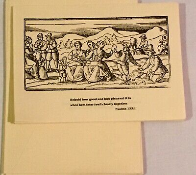 BRANDEIS UNIVERSITY Women's Committee Holiday Cards 10 Thanksgiving Psalms 133.1