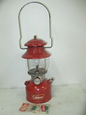Coleman 200A Red Lantern, Tested & Working, 550 Coleman Globe, 1 Top Chip, 10 58