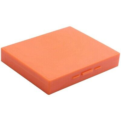 3X(Plastic Rectangle Hold 100 Slide Microscope Box,orange M7R5)