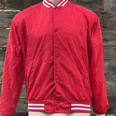 Vintage Red School Satin Jacket 1980s 1990s