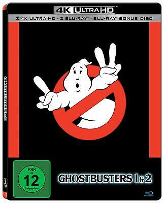Ghostbusters 1 & 2 (4K UHD Blu-ray Steelbook) ATMOS - NEW / SEALED