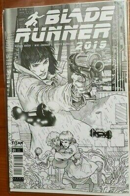 Blade Runner 2019 #1 NYCC 2019 second print retailer variant bw sketch NM