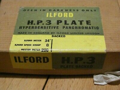 Plaque ILFORD HP3 / hypersensitive panchromatic