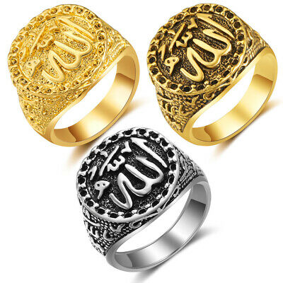 Vintage Cool Stainless Steel Gothic Rings Retro Hiphop Jewelry Size 8-10 2 Color