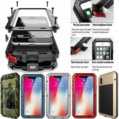 HEAVY DUTY Shockproof Aluminum Metal Case Cover for iPhone 11 Pro Max X 8 6 7 XR