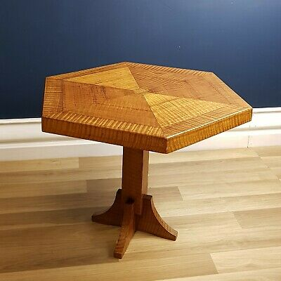 Art Deco Coffee / Side Table, Suberb Fiddle Mountain Ash Timber 1930
