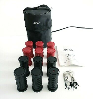 Nicky Clarke NHS005 Compact Heated Rollers Hot Hair Curling Curler Waves Styling