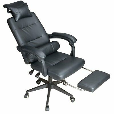 Luxury Executive Racing Game Computer Desk Chair Office Recliner With Footstool