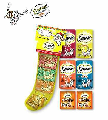 Dreamies Mixed Cat Treats - Best Value Pack in a Christmas Stocking