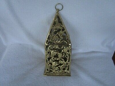 Solid Brass Hummingbird House Garden Candle Lantern Hanging Or Table Top~QUALITY
