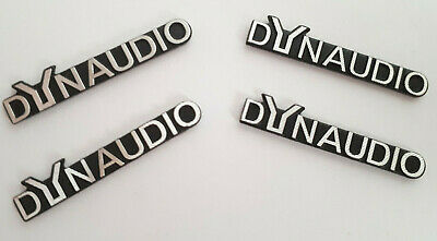 4x Stickers For DYNAUDIO 3D Style Decor Emblem Speaker Logo Metal Adhesive Badge
