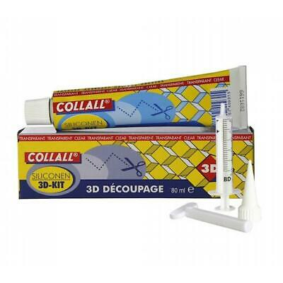 Collall Transparent 3D Silicone Glue - 80ml Kit