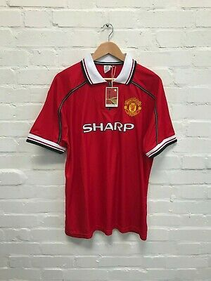 Manchester United Official Men's 1999 Home Retro Shirt  - XL - Giggs 11 - NWD
